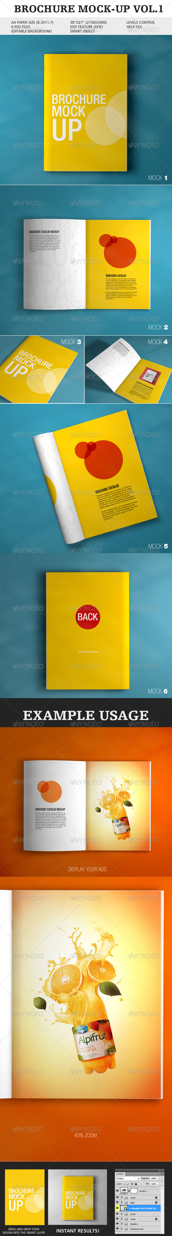 Brochure Mock-up Vol.1 - Brochures Print