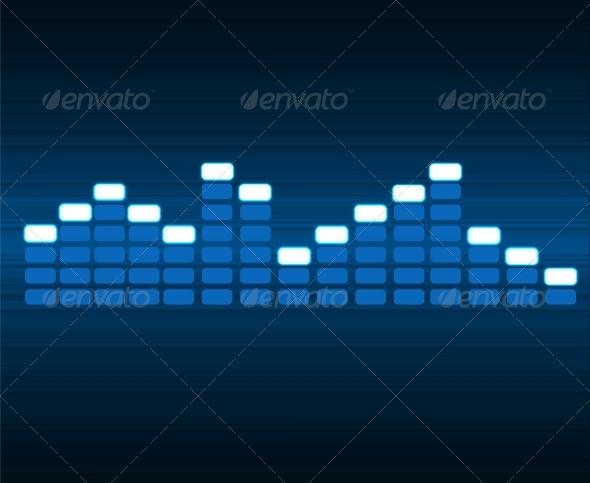 Digital Equalizer Vector Illustration - Backgrounds Decorative