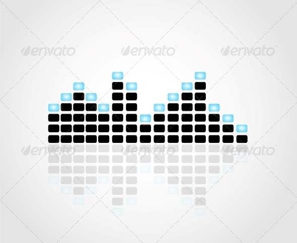Digital Equalizer Vector Illustration - Backgrounds Decorative