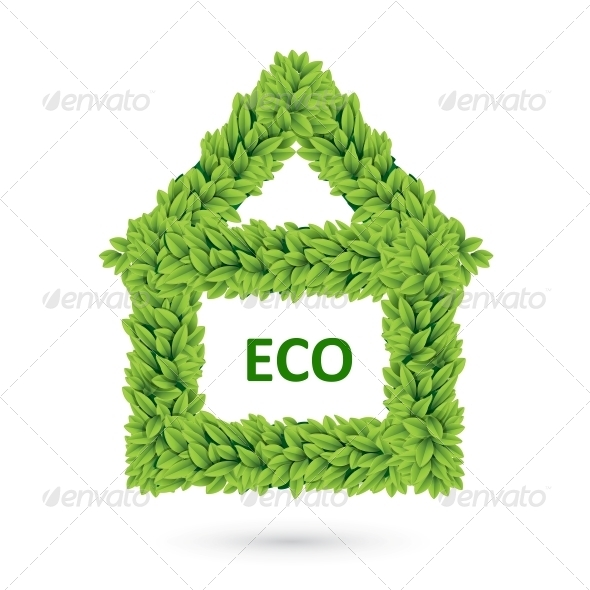 Ecology Home Icon of Green Leaves - Flowers & Plants Nature