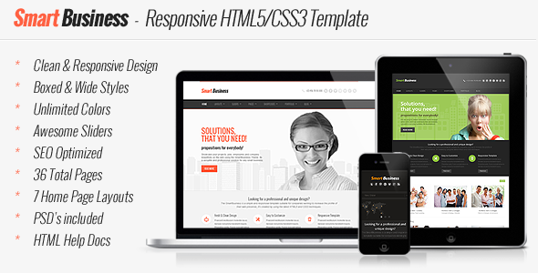 Smart Business - Responsive HTML5 Template - Business Corporate
