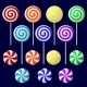 Delicious Colorful Lollipop Collection - GraphicRiver Item for Sale