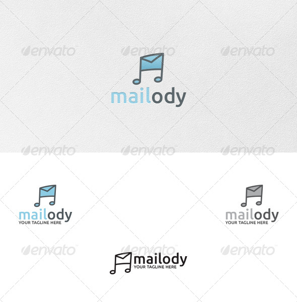 Mailody (Melody Mail) - Logo Template - Symbols Logo Templates