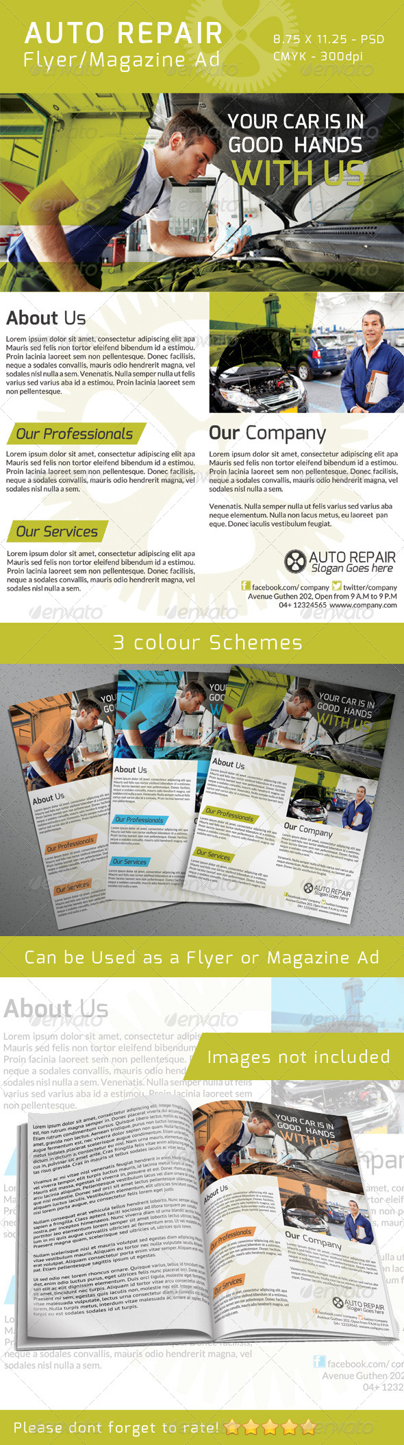 Auto Repair Flyer/ Magazine Ad - Commerce Flyers