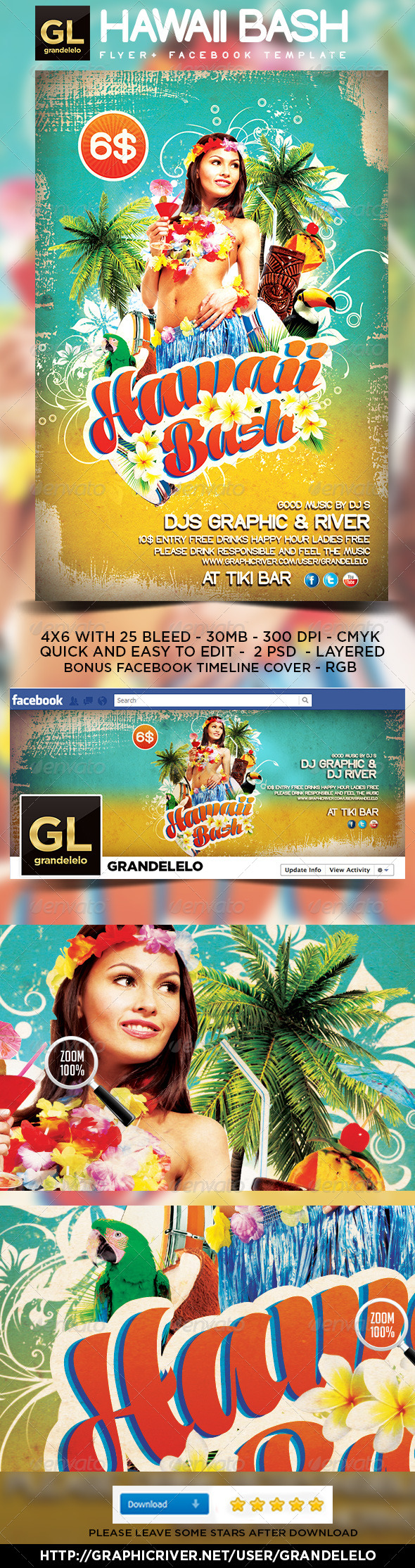 Hawaii Flyer Graphics Designs Templates From Graphicriver