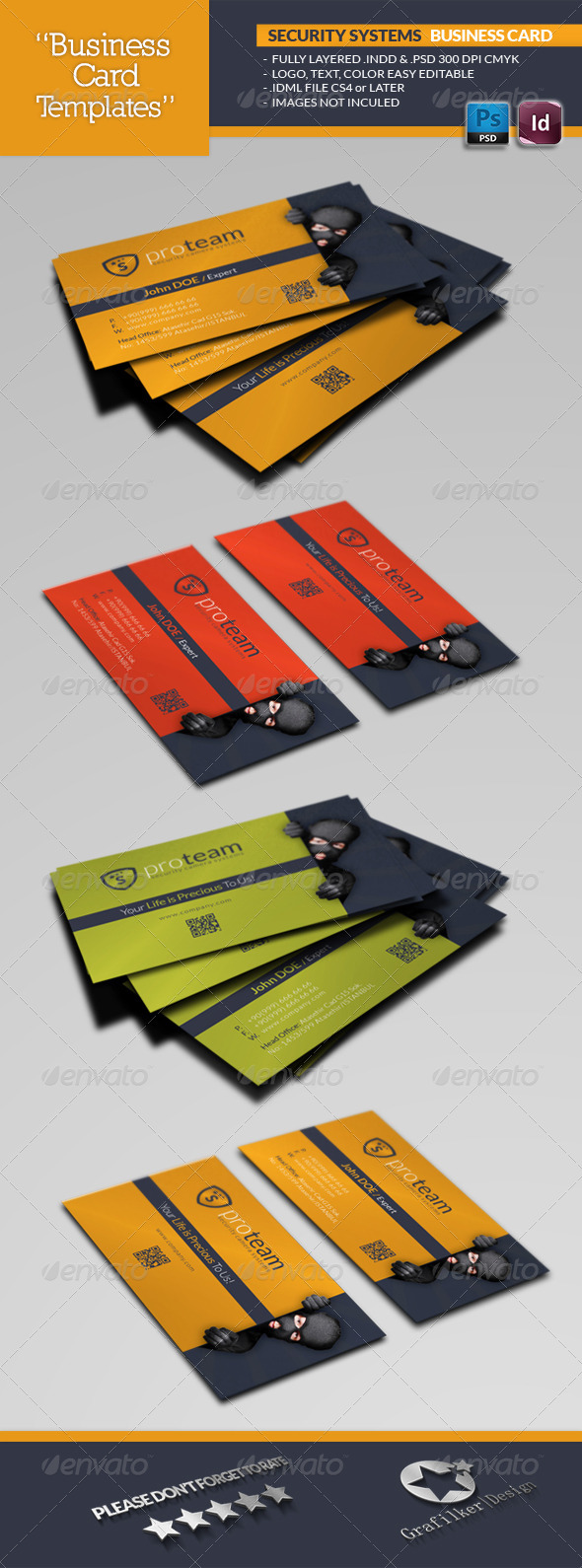 Security Systems Business Card Template - Creative Business Cards