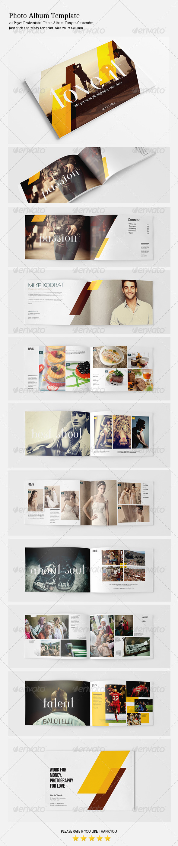 Photo Album Template - Photo Albums Print Templates