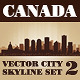 Vector City Skyline Canada Set Number 2 - GraphicRiver Item for Sale