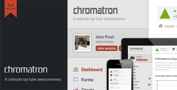 Chromatron HTML5 Admin Backend - The item page featured image.