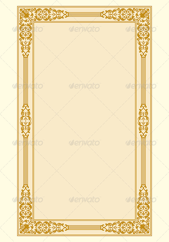 Ornamental Border Frame Vintage