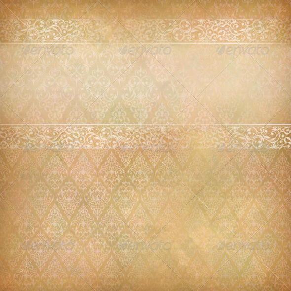 Vintage Abstract Retro Lace Banner Background - Backgrounds Decorative