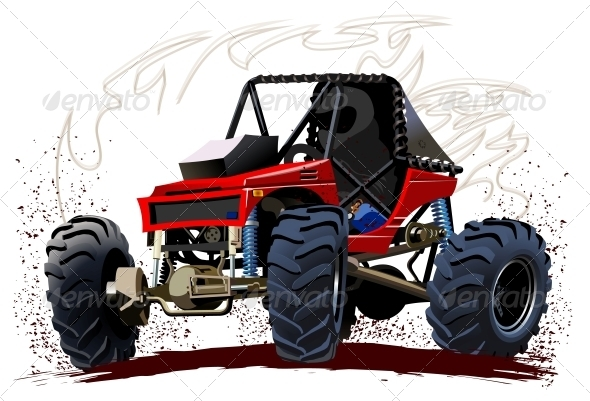 Vector Cartoon Buggy - Sports/Activity Conceptual