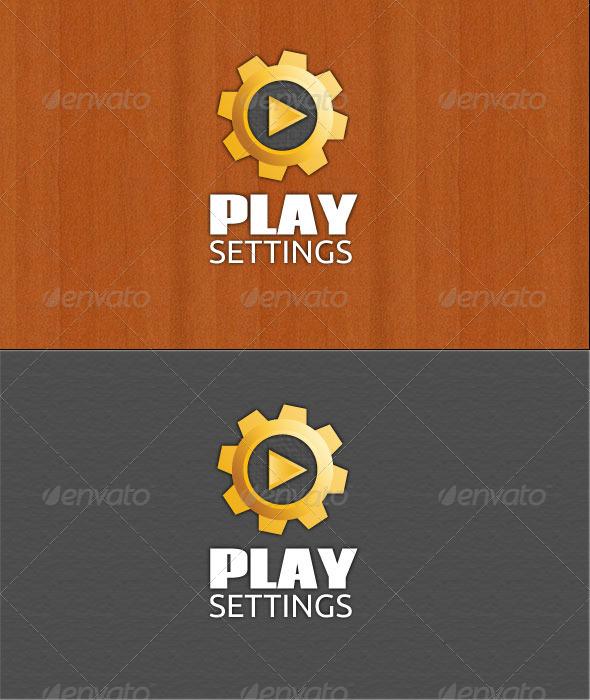 Play Settings Logo - Symbols Logo Templates