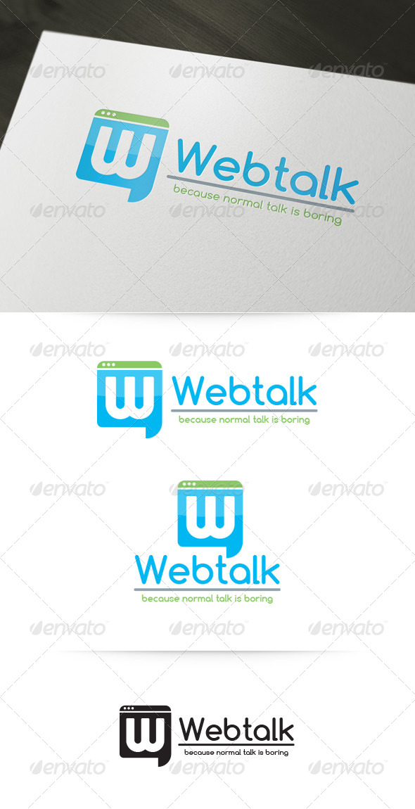 Web Talk Logo Template - Abstract Logo Templates