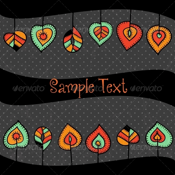 Stylized Leaves Border - Borders Decorative