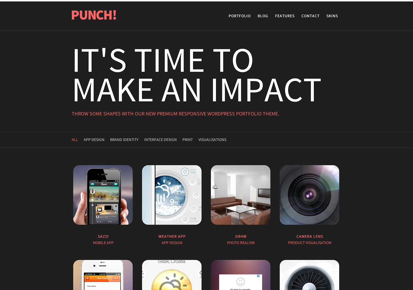 Punch - Responsive Portfolio WordPress Theme by SwiftIdeas | ThemeForest