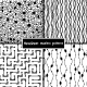 Set of Four Monochrome Geometrical Patterns - GraphicRiver Item for Sale