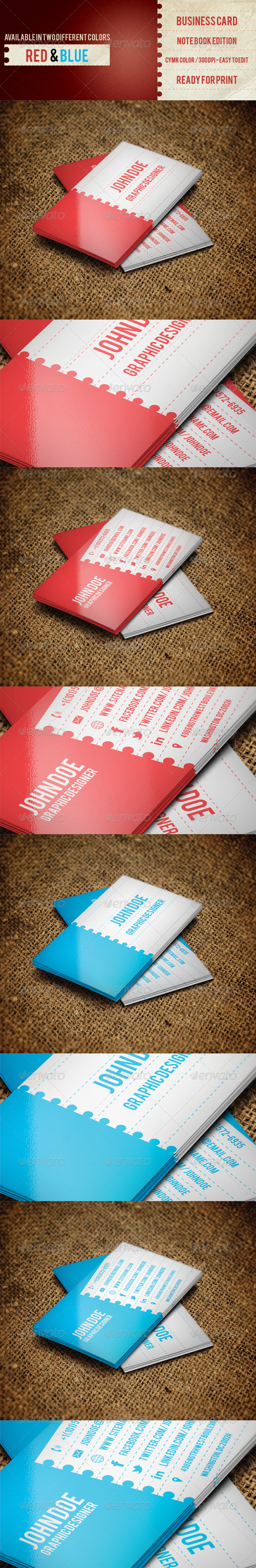Business Card NoteBook Edition - Business Cards Print Templates