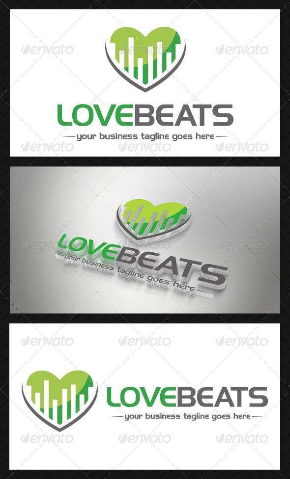 Music Love Beats Logo - Symbols Logo Templates
