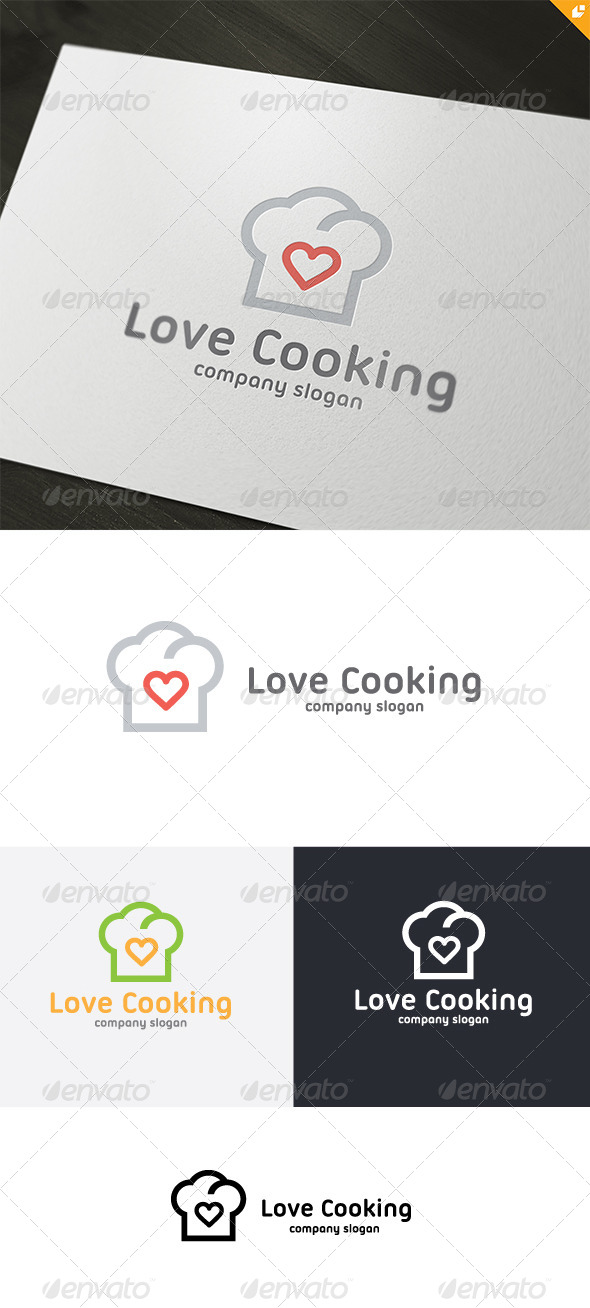 Love Cooking Logo - Food Logo Templates