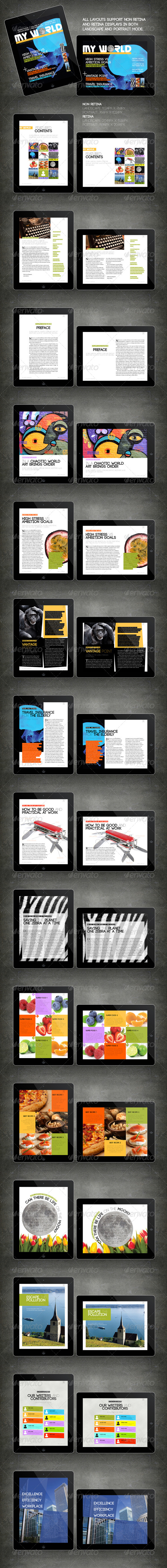 iPad Tablet Magazine Template 16 Pages - Digital Magazines ePublishing