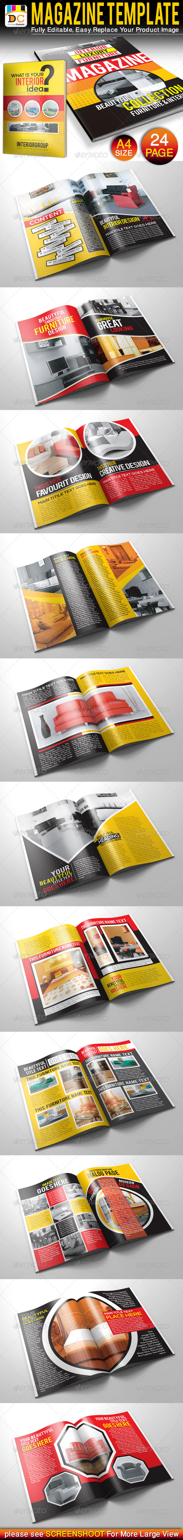 Furniture Design Templates 24 pages furniture & interior magazine templatescontestdesign