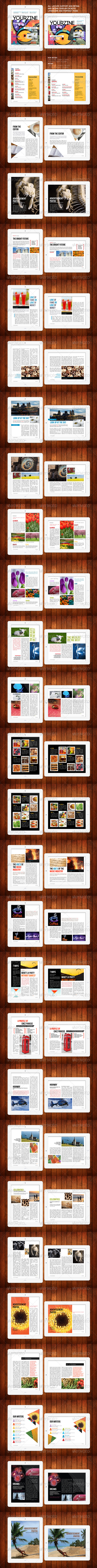 iPad Tablet Magazine Template 28 Pages - Digital Magazines ePublishing