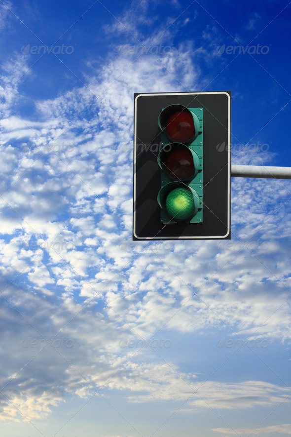 green sign - Stock Photo - Images