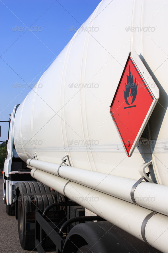 flammable warning sign - Stock Photo - Images
