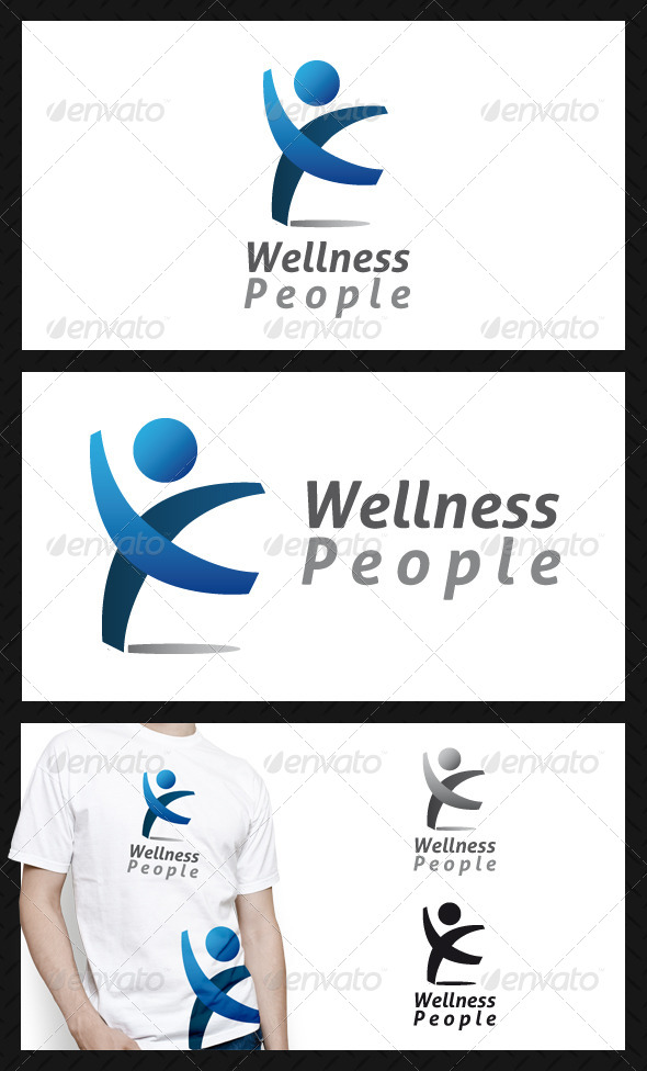 Wellness People Club Logo Template - Humans Logo Templates