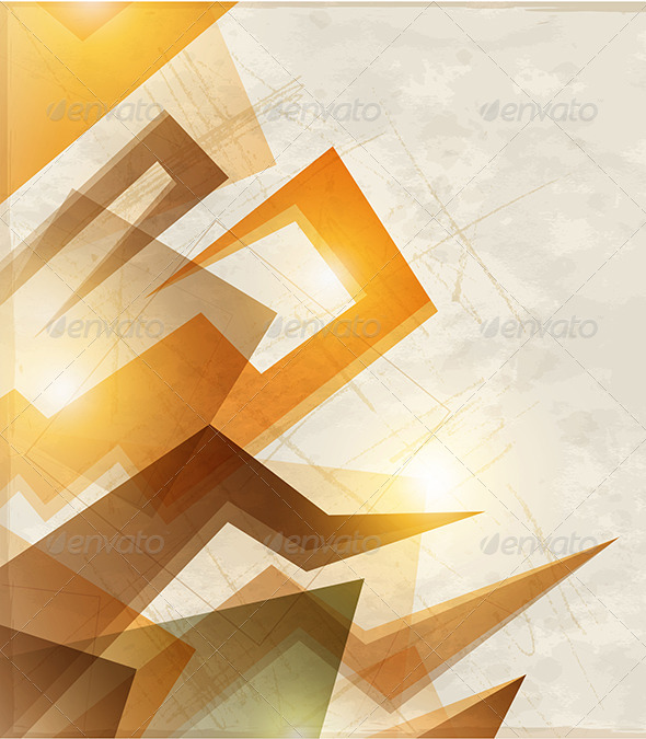 Abstract Orange Background - Abstract Conceptual