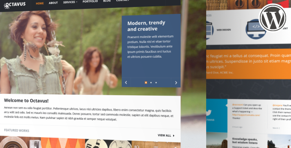 Octavus Responsive Portfolio WP Theme - Portfolio Creative