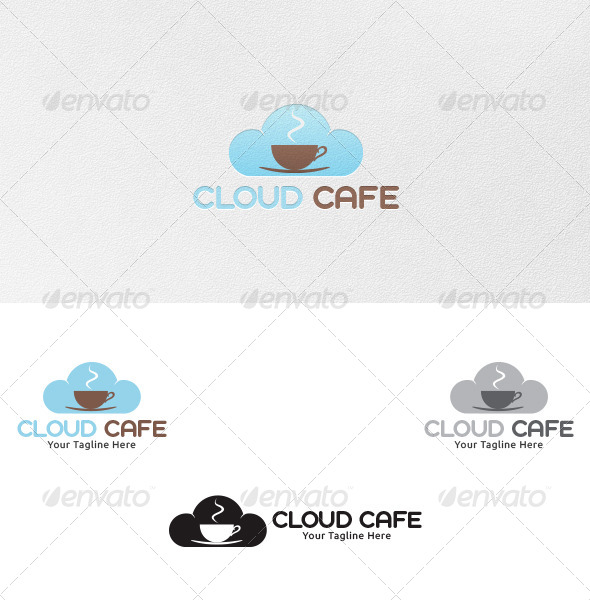 Cloud Cafe - Logo Template - Nature Logo Templates