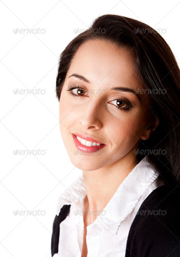 Happy Corporate Business woman face - Stock Photo - Images