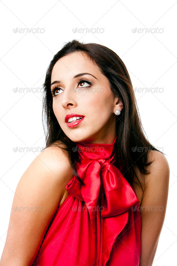 Happy beautiful woman face - Stock Photo - Images