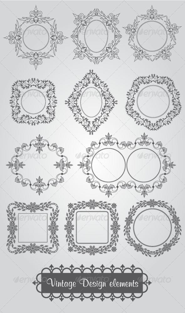 Vintage Design Elements - Decorative Vectors