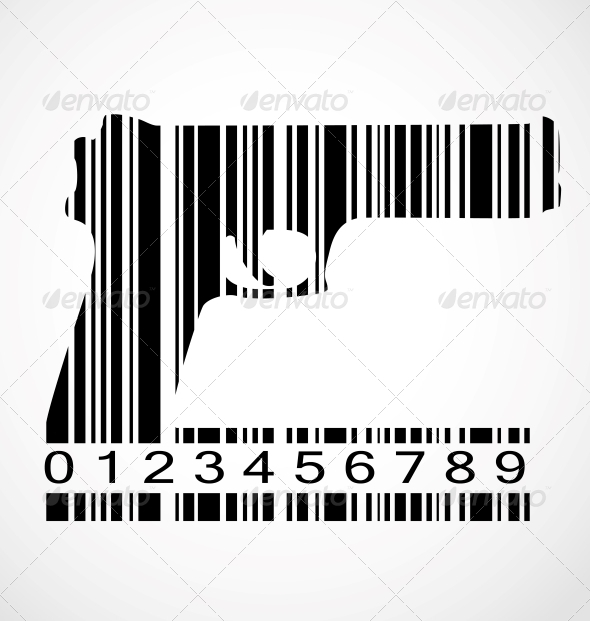 Barcode Gun Image Vector Illustration - Concepts Business