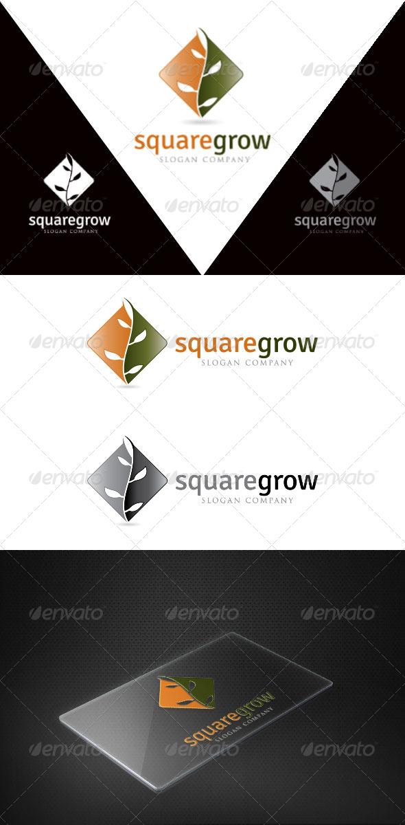 Square Grow - Symbols Logo Templates