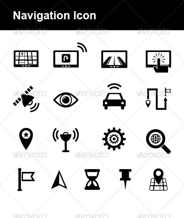 Navigation Icon - Technology Icons