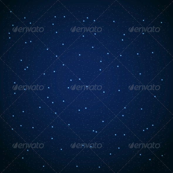 Star Sky Vector Illustration Background - Decorative Symbols Decorative