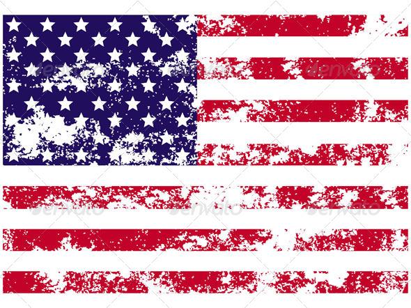 Flag of USA - Abstract Conceptual