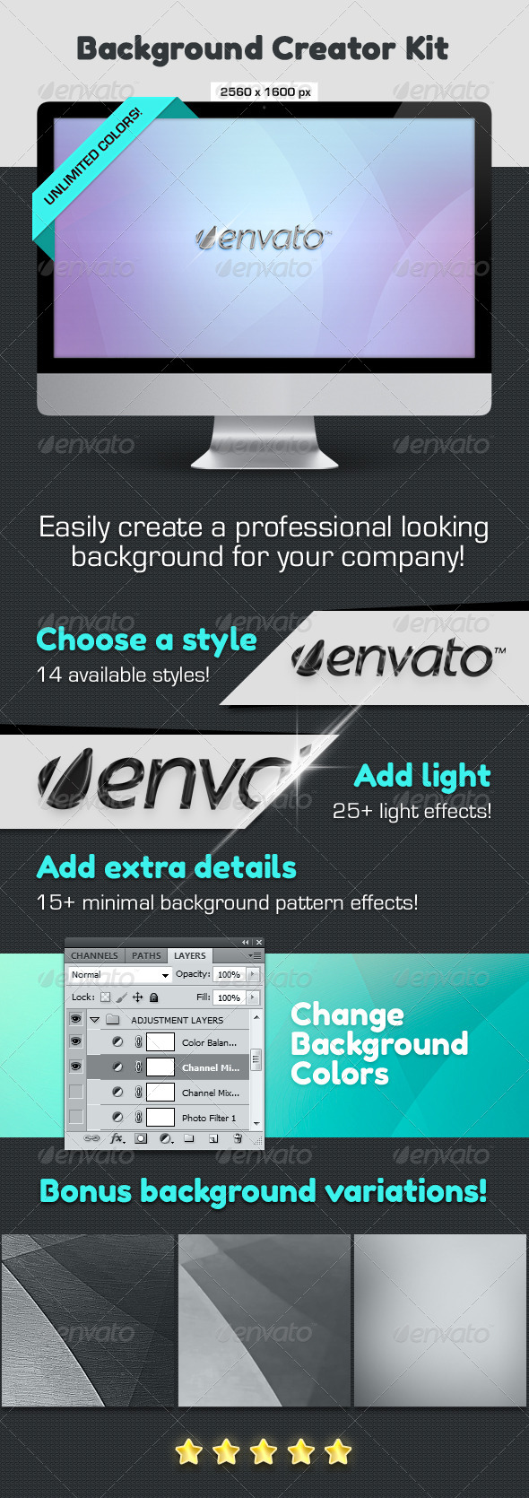 Background Creator Kit - Abstract Backgrounds