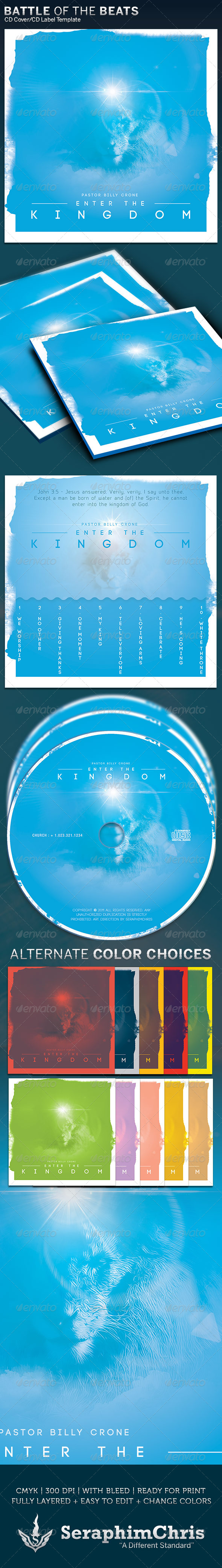 Enter the Kingdom CD Cover Artwork Template - CD & DVD Artwork Print Templates