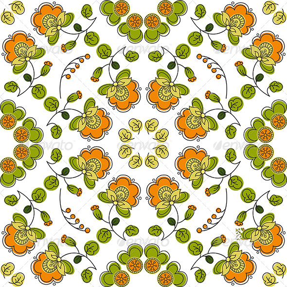 Summer Seamless Floral Pattern - Patterns Decorative