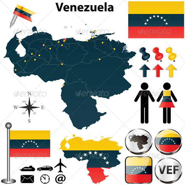 Map of Venezuela - Travel Conceptual