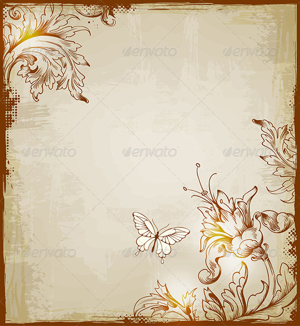 Vintage Decorative  Background - Backgrounds Decorative