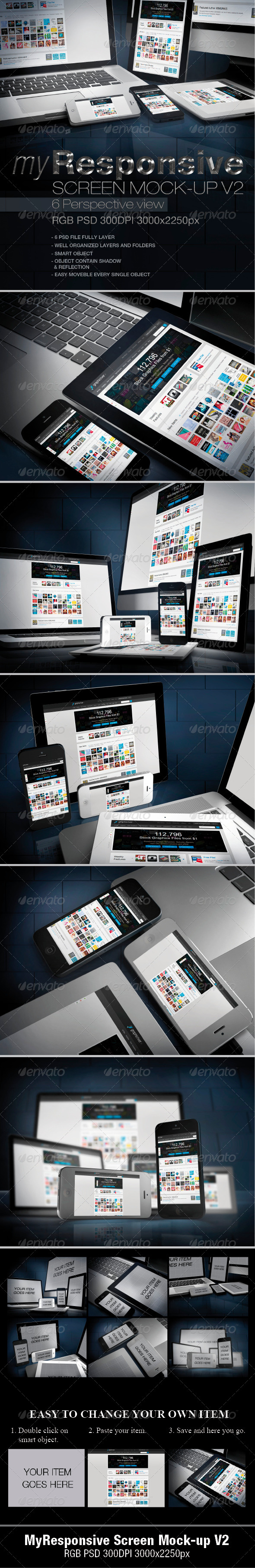 myResponsive screen mock-up V2 - Miscellaneous Apparel