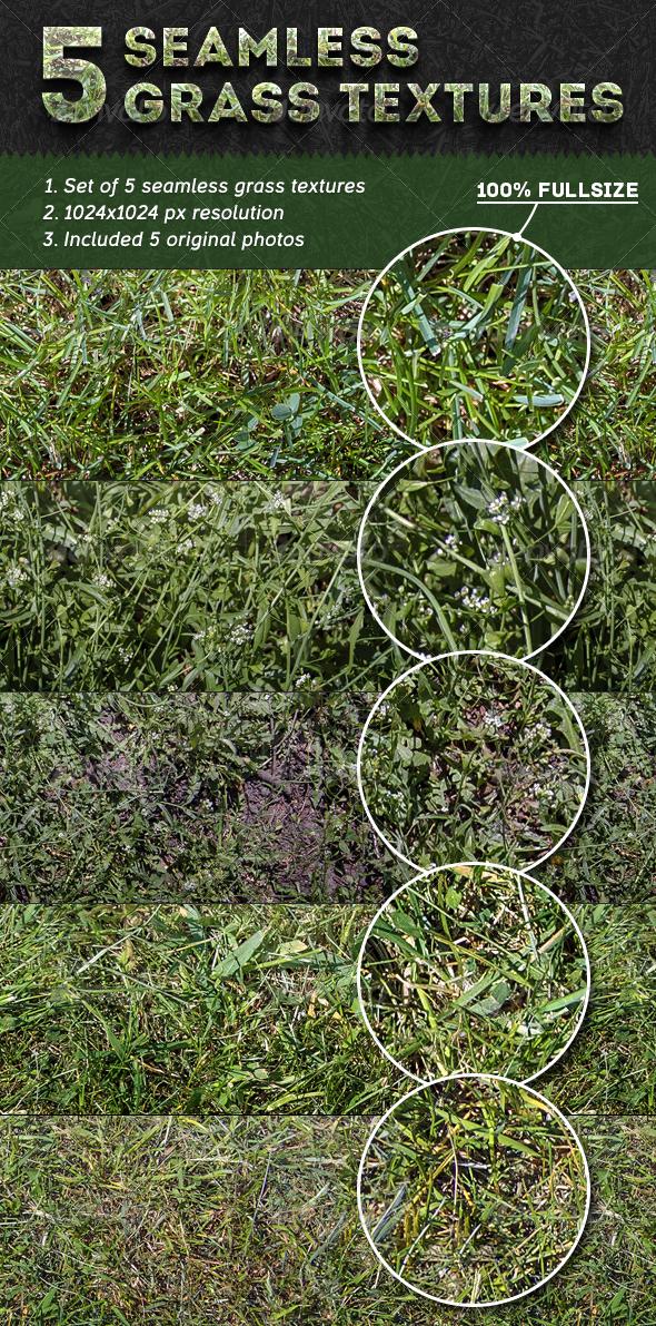 5 Seamless Grass Textures - Nature Textures