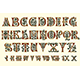 Alphabet Medieval and Roman Numerals - GraphicRiver Item for Sale