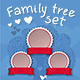 Vector Template Set Family Genealogical Tree - GraphicRiver Item for Sale